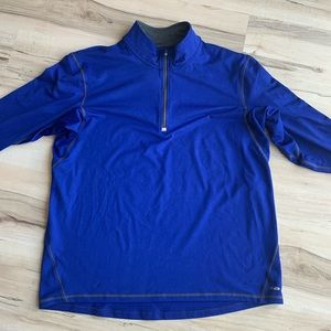 Champion Quarter ZIP Blue Size Large